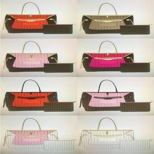 Frauenqualität Leder Naverfulls 8 Pouch GM Brieftasche Frauen Geldbörse Taschen mit Mode Für Einkaufstasche Schulter High MM Handtaschen Klassische CO XTJS
