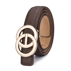 2021 New Listing Kids Boys girls PU Leather Fashion Belts Student Alloy Buckle Belt Jeans Waist Belt