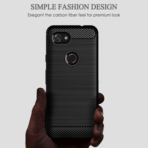 Brushed Texture Phone Case For Google Pixel 3 5 2 Xl 4 4a 5g Cover Carbon Fiber Luxury Cases For Googl jlleKF