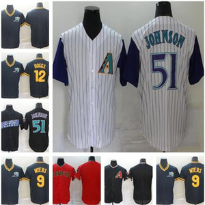 Mens 51 Randy Johnson 12 Wade Boggs Baseball Jerseys 9 Wil Myers 2021 Nouveau