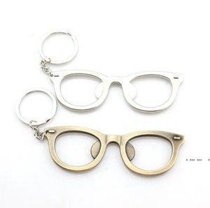 Bottle Opener Creative Glasses Shape Bottle Opener Keychain Keyring Ornaments Beer Opener Ring Bar Tools FWF5423