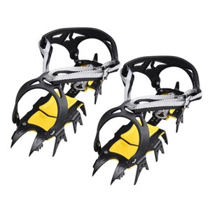 Cords, Slings And Webbing 18Teeth Crampon Winter Snow Spikes Ski Ice Shoe-Covers Steel Grippers Cleats For Climbing Walking Hiking On