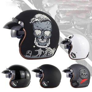 helmet motorcycle Casco Moto Open Face Vintage Motorcycles Helmet for Scooter Helmet Visor Half Face Chopper Cascos Men Retro Vespa Capacete