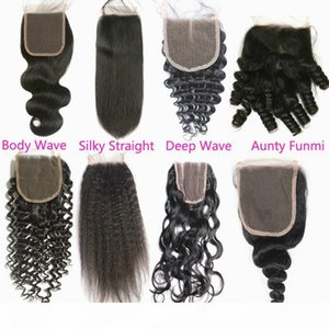 Reliable 5x5 Swiss Lace Closure Brazilian Virgin Deep Wave Curly Top Closures Piece Natural Color Cheap Unprocessed Human Hair Closure