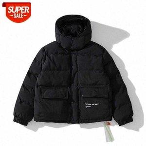 Outside single source brand ow thick padded coat black unisex jacket #o38Q