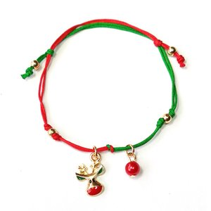 Wholesale Christmas Small Gift Snowflake Elk Christmas decoration Tree Knitted Bracelet