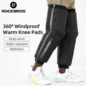 ROCKBRO Angle Wrap Cotton Leg Warmers Windproof Winter Moto Snow Leggings Men Women Winter Cycling Knee Pads