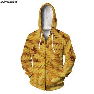 Men's Hoodies & Sweatshirts Jumeast Brand Men Women 3D Printed Cigarette Noodles Hip Long Sleeve Jacket Hoody Sport Pullover Spring Zipper