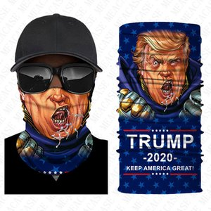 Print Stars Flag Fashion Face Trump American Striped Breathable Mouth-muffle Headband Veil Scarf Outdoor Dustproof Mask Boutique D8501