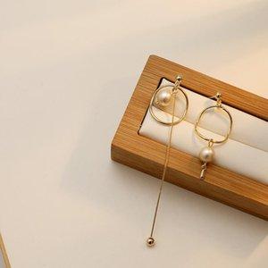Coréen Design Boucles d'oreilles Tassel longs Tempérament de la mode Simple et mince Perle Boucles d'oreilles Bijoux Femme 2021 Trendy