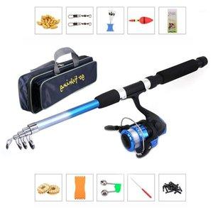 Olta Takimlari Fishing Set Rod Combo and Reel Full Kit W  Portable Fishing Storage Bag Spinning Reel Gear Pole Set Lures Hooks1