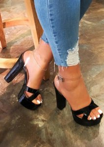 Chaussures roses talons talons bas talons talons femmes talons femmes femmes femme fétiche sexy haute plate-forme 2020 w1gu #