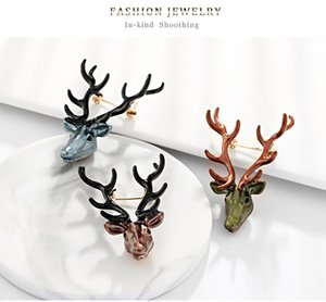 Originality Personality Elk Brooches Pin Women Versatile Animal Brooch Fashion Temperament Jewelry Corsage 5dr T2