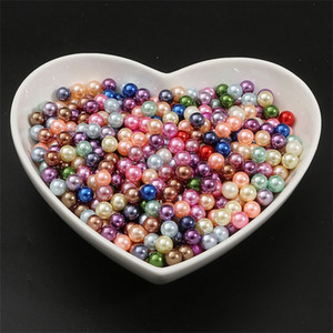 500g set 3 4 6 8 10mm Round Multi Color No Hole Acrylic Imitation pearl beads Loose beads For DIY Scrapbook Decoration Crafts Making 50 S2