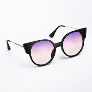 Cat's Eye Black Pink Sunglasses Trends 2021 Fashion Women's Sun Glasses Unusual Brands Luxury Imitation Vintage Style Vogue Cute