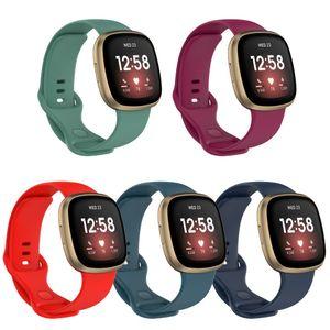 Силиконовая полоса для Fitbit Versa 3 Smart Watch Doublect Водонепроницаемые маленькие большие женщины Мужчины браслета Band для ремешка