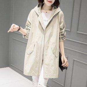 Досуга Winterbreaker Женское среднее длинное небольшое платье 2021 новая тонкая женская весеннее пальто
