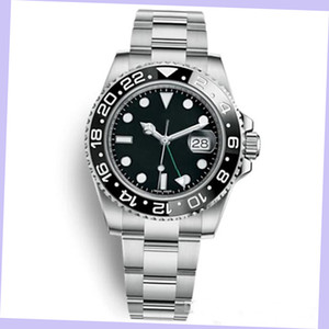 YZ Factory Hot Sale Quality Men 3866 Automatic Movement 116710 GMT Batman Ceramic Sapphire Dial Master 2 Bracelet Watch Mens Watches Reloj