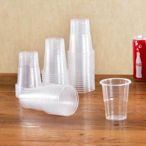 Disposable Cups & Straws 50Pcs Clear Plastic Party S Glasses Jelly Ice Cream Birthday Tumblers