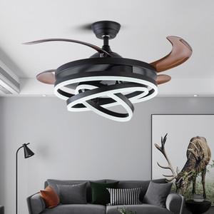 Северная спальня светодиодный потолочный вентилятор лампы столовая люстра потолочные вентиляторы с огнями дистанционного управления лампами для гостиной спальня