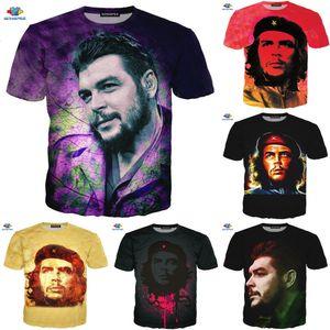Sonspee New World Celebrity Che Guevara T-shirt 3D Imprimer Cool Moto T-shirt Homme Fun Anime Dessin animé Smoke Shirt Top l0223