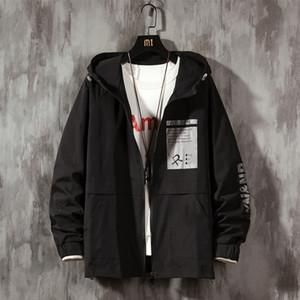 Men's Casual Oversize Denim Jacket Printed Woman 2021 New Hooded Coat Korean Streetwear Male Jackets Ra41