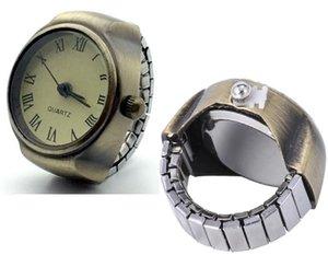 100 stücke Vintage Frauen Ring Uhr Stretch Quarz Fingerringuhr Römische numerische Uhren Schmuck Unisex Uhr Geschenke für Liebhaber W2114