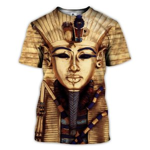 Sonspee 3D Baskı Antik King Tutanchamun Mısır Erkekler T-Shirt Göz Horus T Gömlek Kadın Yaz Rahat Gömlek Hip Hop Tee Tops C0310