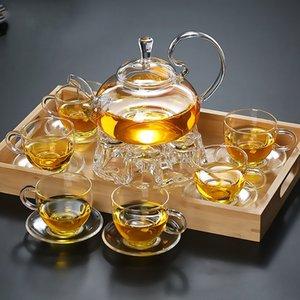 1 قطعة 600 ملليلتر مقاومة للحرارة مع مقبض عالية زهرة القهوة الزجاج وعاء الشاي تزهر الشاي الزجاج الصيني 250 S2