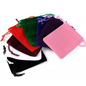 7cm*9cm High-grade Velvet Cloth Drawstring Bags Jewelry Pouches Small Candy Gift Bags Christmas Party Festival Wedding Favors Packing Bags