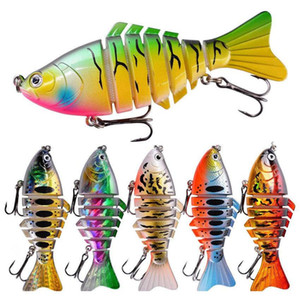 New Unpainted Blank Body For Diy 7 Segments Lifelike Fishing Lure 9.6cm 14g Multi-section Swimbait Realistic jllWjL xmhyard