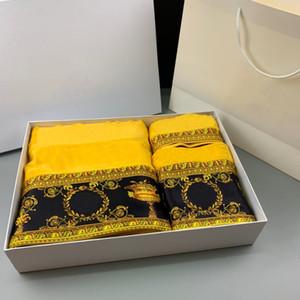 2021 Nouvelle serviette de coton de coton de styletelet pour une serviette en coton de haute qualité Set Three Pièce absorption d'eau
