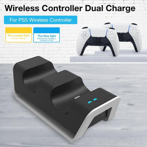 Game Wireless Controller Dual Charger Gamepad Charging Station for PS5 Wireless Controller Charger Over-Heated Protection