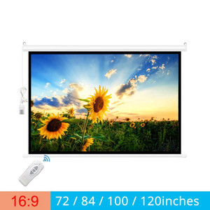 Touyinger 16:9 72 84 100 120inches Electric Screen for Projector curtains Motorized for All LED LCD DLP Laser Projector Screen