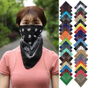 Cashew Bandanas Pure Cotton with Flower Amoeba Multifunction Square Scarf in Paisley Hip-hop Magic Headscarf Mask Headband for Womens Mens