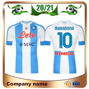 20 21 Napoli Commemorate Maradona Soccer Jerseys 2021 fourth Away MERTENS Maillots de football HAMSIK MILIK football shirt
