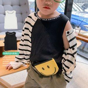 Enfants Gilet Matériace Homme Enfants Western Style Vest bébé Enfants Coréen Summer T-shirts Vêtements pour enfants J0220