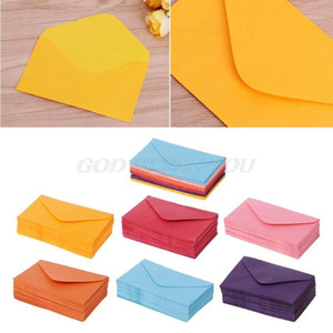 50Pcs Colorful New Retro Blank Mini Paper Envelopes Wedding Party Invitation Greeting Cards Gift Drop Shipping1