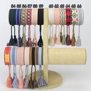 96 Arten Handgemachte Freundschaft Armband Für Frauen Männer Einstellbare Seil Armband Quaste Armbänder Großhandel Vintage Schmuck Geschenke