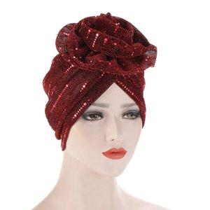 Damen Hijabs Turban Elastische Tuch Kopfkappe Hut Damen Haarschmuck Muslimische Schalkap Turban Frauen Muslim Schal