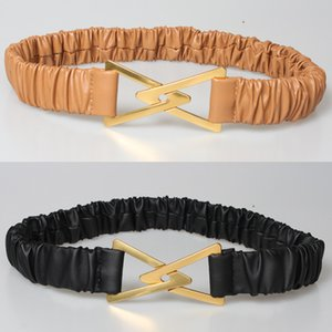 Advanced Mix and Match Accessories Metal Triangle Arrow Hook Elastic Pleated Belt with Skirt