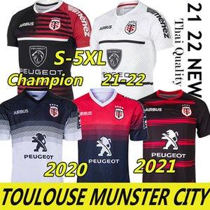 3XL 4XL 5XL Toulouse Munster City Rugby Jerseys 2021 2022 Home Away Champion 19 20 Stade Touousain League Jersey Lentulus Hemden Freizeit Sport