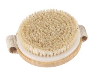 Natural bristles Bath brush Body Maasage No Handle Body Exfoliating SPA Hot Dry Skin Body Wooden Dry Brush