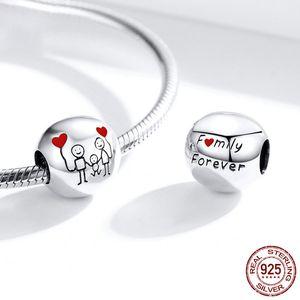2020 New Boy and Girl Forever Family Tree Lock Coração Beads Fit Original Pandora Charms Silver 925 Pulseira DIY Mulheres Jóias433 T2