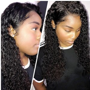 HD Lace Front Human Hair Wigs for Black Women Deep Wave Curly 150% Frontal Bob Wig Brazilian full Short Long Water wave Wig
