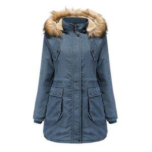 Womens Winter Lapel Zipper Long Trench Coat Jacket Overcoat Outwear Cotton Padded Coat Long Paragraph Slim Jacket Female 9.10