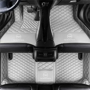 Custom Fit Car Floor Mat Carpet Specific Waterproof Leather ECO Friendly Material For Vast of Car Model and Make Single Layers Full gray