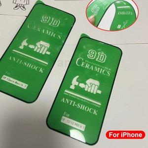 Новый 9D мягкая керамическая пленка для iPhone 12 Mini 11 Pro X XR XS MAX Полный клеевой крышка экрана для защиты экрана iPhone 8 7 6s Plus SE2020