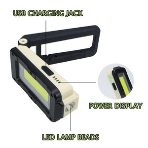 COB Worklight Ultra Bright LED Work Lamp Flexible Folding Inspection Light Portable Torch Outdoor Camping Car Truck