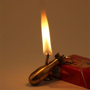 Kerosene encendedor llavero reutilizable coincidencias reutilizables ligero multifuncional oro al aire libre impermeable millón de partidos llavero 209 S2